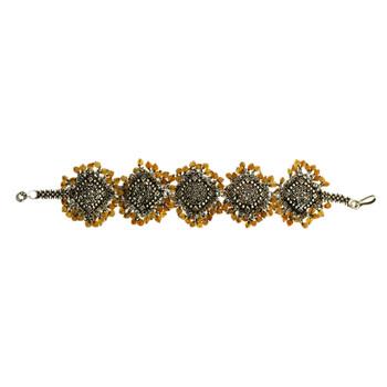 Artisan Carnelian Bali Sterling Silver Bracelet