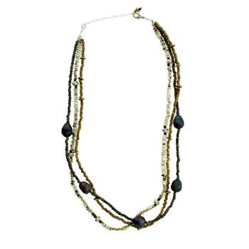 Three strand necklace.