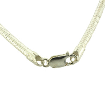 Clasp view of necklace.