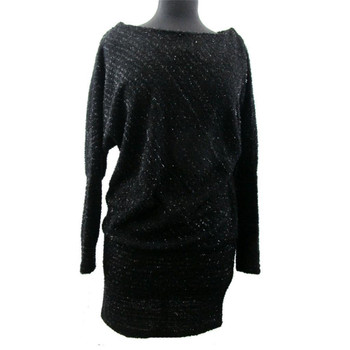 Black sparkle tunic dress.
