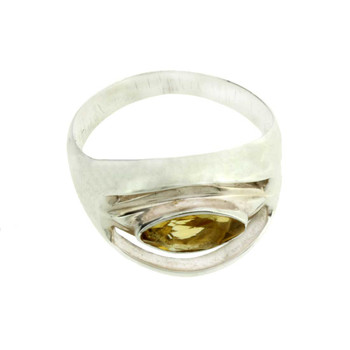 Citrine sterling silver ring.