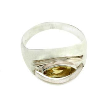 Citrine sterling silver ring.
