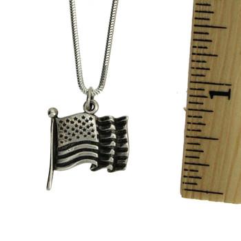 American flag pendant.