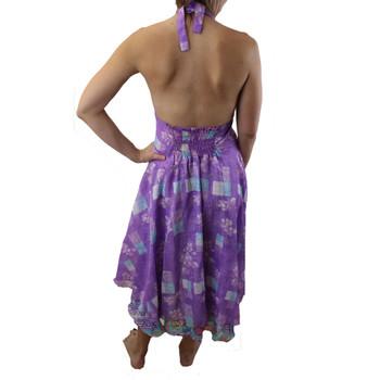 Purple halter sundress backside.