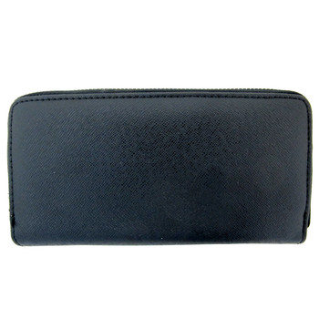 Black zip around wallet.