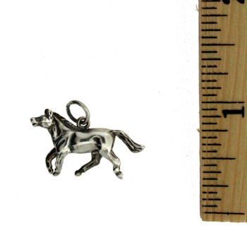 Horse sterling silver charm or pendant.