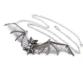 Alchemy Gothic Bat Necklace P121