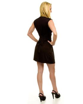 Little black dress backside.