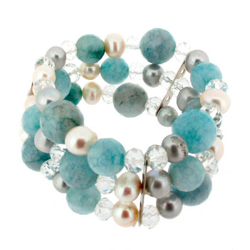 Multi gemstone stretch bracelet.