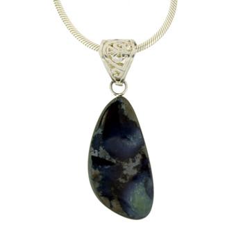 Natural Boulder Opal pendant.