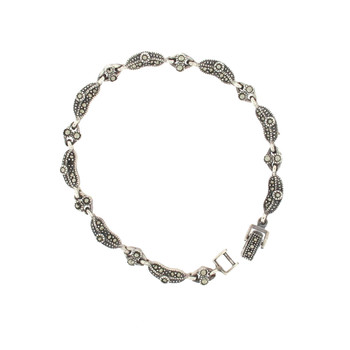 Quality Marcasite sterling silver bracelet.