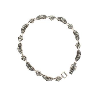 Quality Marcasite sterling silver bracelet.