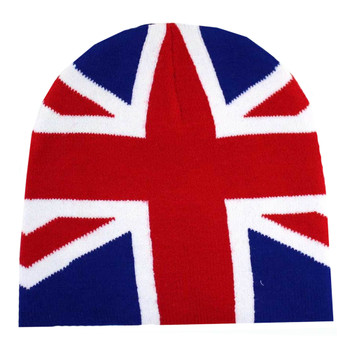British Flag Knit Beanie Cap