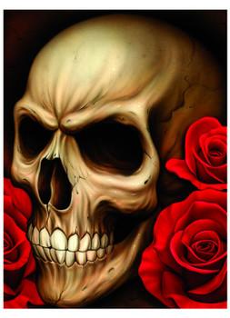 Spider's Skull by Spider Tattoo Art Print Adrian Castrejon Skeleton Roses