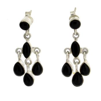 Onyx sterling silver earrings.