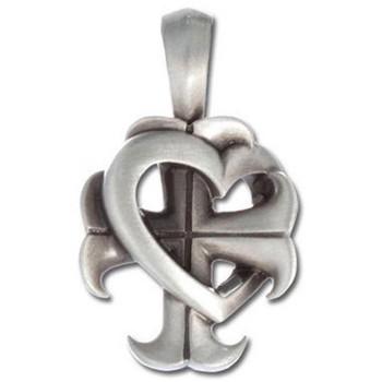 Croix De Coeur BICO Pewter Pendant