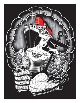 Ian McNiel Queen Mary Silkscreen Print