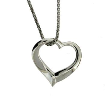 Heart sterling silver pendant.
