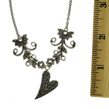 Heart antiqued necklace.