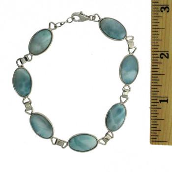 Larimar sterling silver bracelet.