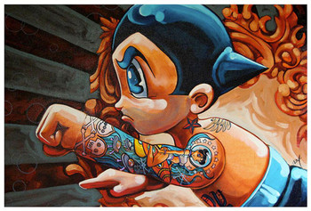 Boybot Homage by Mike Bell Tattoo Fine Art Print