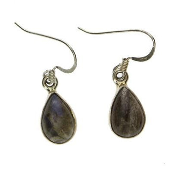 Teardrop Labradorite Dangle Earrings Sterling Silver Gemstone