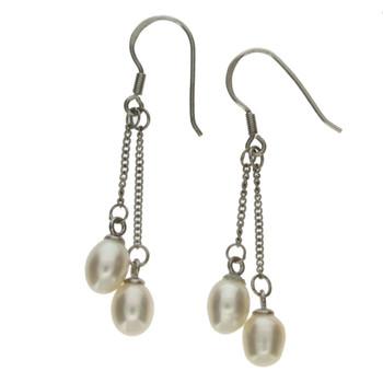 Pearl sterling silver earrings.