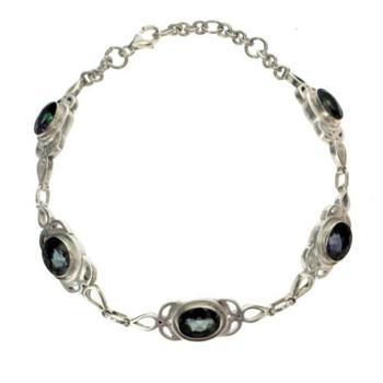 Mystic Topaz sterling silver bracelet.
