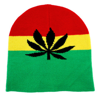 Pot leaf rasta hat.