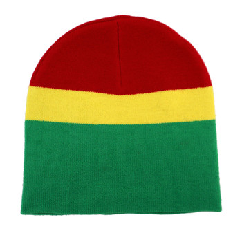 Pot leaf rasta hat backside.