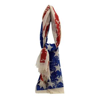 American flag scarf.