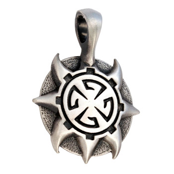 BICO Pacific Jewelry Pewter Pendant ATTICUS Tribal Surf Wear E280