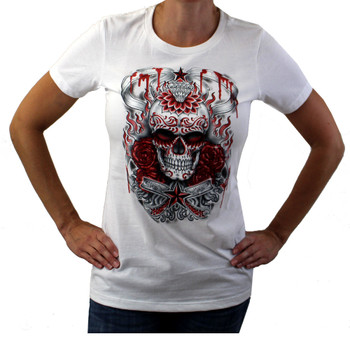 Day of the Dead medium white t-shirt.