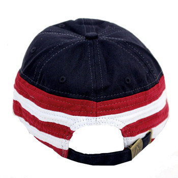 USA red white and blue embroidered baseball hat.