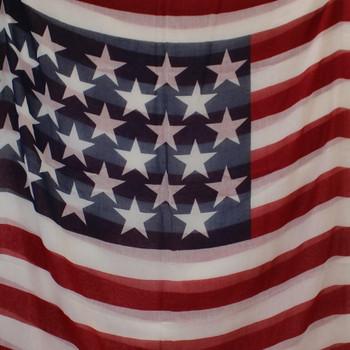 American Flag Scarf Infinity Patriotic USA Stars & Stripes Red White Blue