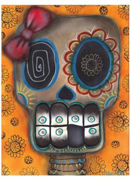 Lady Muerta by Abril Andrade Tattoo Art Print Sugar Skull