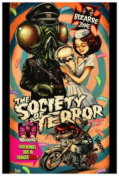The Society by Kurono Fine Art Print Fly Horror Movie Poster