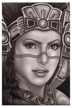 Aztec Princess by Big Ceeze Fine Art Print