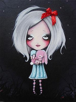 Pretty Bunny by Candy Cane Fine Art Print