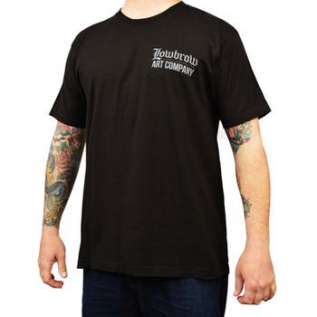 Speed Demon by Mike Bell Men's Black Shirt Tattoo Art Hot Rod Frankenstein
