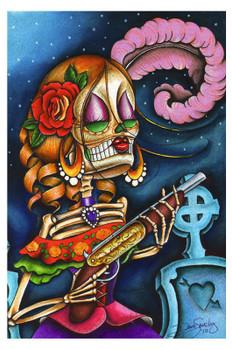 Bonita by Dave Sanchez Fine Art Print Day of the Dead Sugar Skull