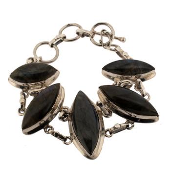 Labradorite sterling silver bracelet.