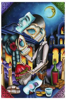 Masquerade by Dave Sanchez Fine Art Print Day of the Dead Sugar Skull