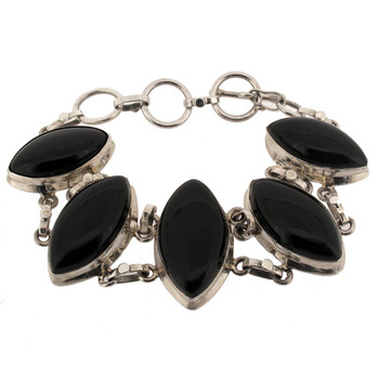 Black Onyx sterling silver bracelet.