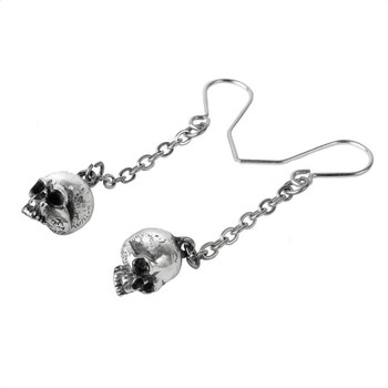 Alchemy Gothic E364 Dead Skull Earrings