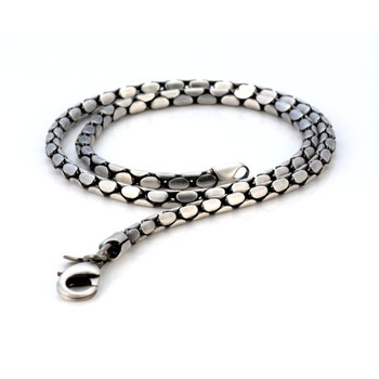 BICO Pacific Jewelry Pewter Stylus Chain Silver Plated Necklace F14