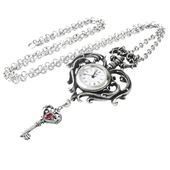 Alchemy Gothic AW26 Temp De Sentiment Fob Watch Pewter Necklace