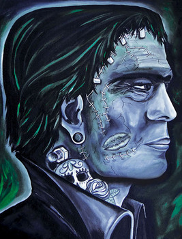 Franky Stein by Melody Smith Frankenstein Canvas Giclee Art Print