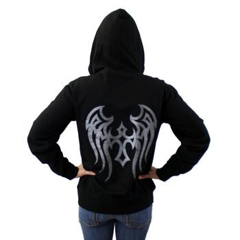 Black tribal hoodie sweatshirt.