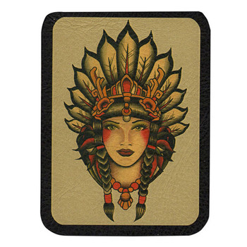 Indian Girl Leather Patch